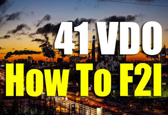 VDO สอนวิธีการทำ F2L 41 กรณี