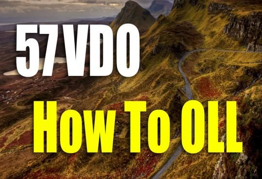 VDO สอนวิธีการทำ OLL 57 กรณี